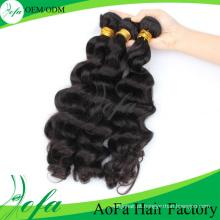 Cabelo humano brasileiro do cabelo do Virgin da categoria 7A da venda por atacado do Manufactor