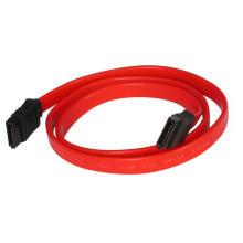 24 дюйма Красный серийный ATA плоский силовой провод кабель
