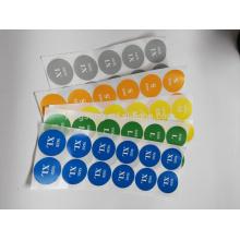 impresión de la etiqueta del tamaño de la ropa material de papel del precio de fábrica
