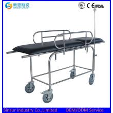 Instrumento médico Acero inoxidable Multifunción Camilla de transporte hospitalario