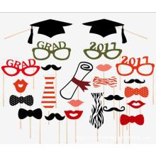 FQ marca festa foto graduação barba máscara adereços