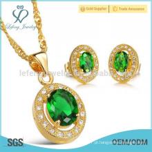 Cobre banhado cristal orelha studs, brincos de cobre conjunto conjunto de jóias