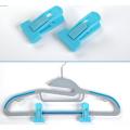 T-tipo gancho azul clipes para cabides flocados