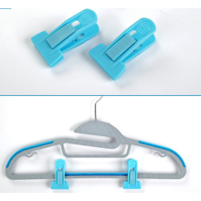 T -Type Blue Hanger Clips for Flocked Hangers