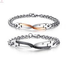 O bracelete de harmonização gravável feito sob encomenda da amizade, par do presente dos Valentim gravou o bracelete