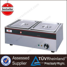 Shinelong factory outlet wholesale price 2-Pan food warner bain marie con buen efecto de aislamiento térmico