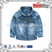 Autumn boy's jeans coats boys kids denim jacket children denim shirts long sleeve British shirts