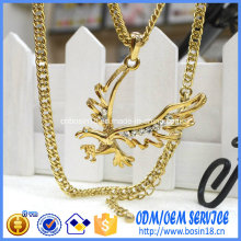 Custom Bird Shape Pendant Necklace with Gold Plating