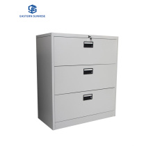 Lateral Metal 3 Drawer Filing Cabinet for Hanging A4/F4 Files