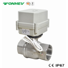 AC220V1 válvula de bola motorizada de acero inoxidable de 1/4 pulgada aprobada NSF61