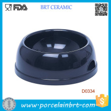 Billige leere runde Form Pet Bowl Keramik Hund Schüssel
