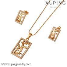 61423-Xuping Moda Mulher Jewlery Set com Banhado a Ouro 18K