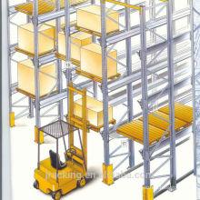 Almacén de almacenamiento Pallet Rack Forklift Drive In Freezer Use Q345 Steel Cold Storage Racking System