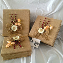 Wholesale hand made flower hat decoration box sets