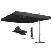 Paraguas de jardín de aluminio de 3m de aluminio con soporte