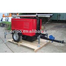 Gerador diesel do reboque de Lovol 60Hz com duas rodas uma garantia do ano