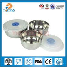 Tazones de sopa disponibles de acero inoxidable 3pcs, tazón magnético