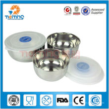 3pcs stainless steel disposable soup bowls, magnetic bowl