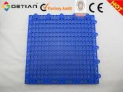 Plastic Suspended Modular Interlocking Sports Flooring, Col