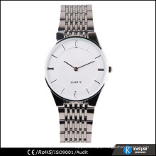 2 hands display stainless steel band watch business, Japan quartz advance watch