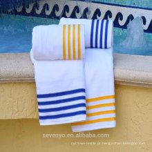 Toalhas de piscina 100% algodão barato a granel (pt-018)