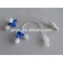 disposable medical plastic disposable three way infusion stopcock/3 way stopcock CE approved