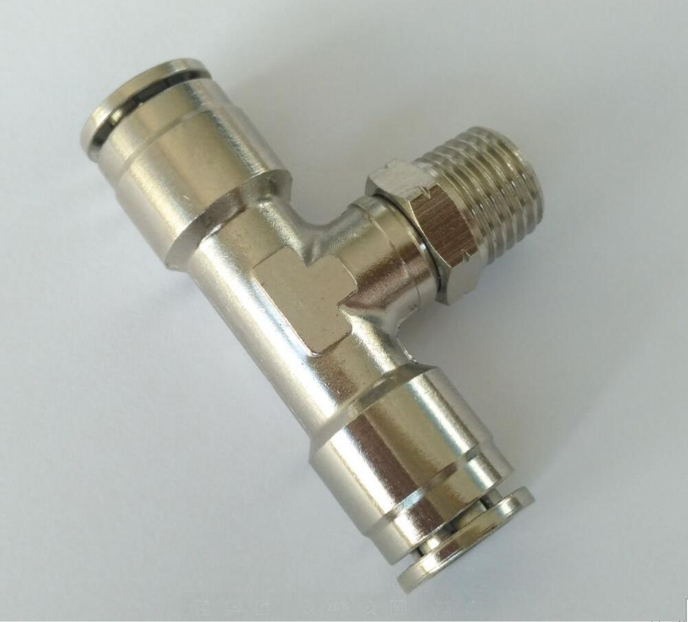 "Air-Fluid 3/8"" Tube x 1/4"" Brass Push-to-Connect Fittings"