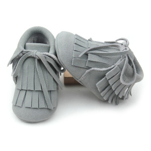 New Styles Genuine Suede Leather Baby Moccasins Boots