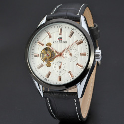 Leather Strap Buckle Wrist Watch For male