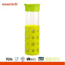 Borosilikat-Getränk-Flaschenglas mit neuer Silikonhülle