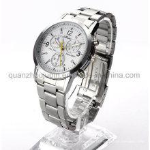Relógio de quartzo do pulso do metal da prova da água do OEM com bracelete do metal