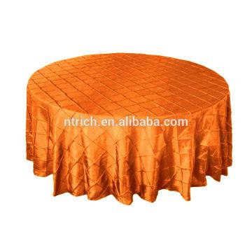 Tissu de table taffetas pintuck décoration de mariage
