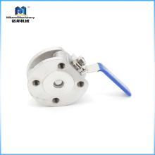Calidad confiable CE ISO9001 Tamaño sanitario personalizado Acero inoxidable bridado bola válvula