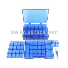 Caixa de ferramentas de plástico para armazenamento de parafusos e almofadas de nariz