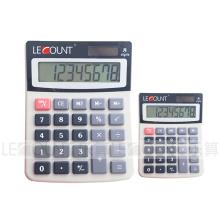 8 Digitas Dual Power Calculadora de escritório de tamanho médio com tela LCD (LC208)