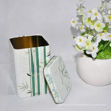 2016 Heißer Verkaufs-kundenspezifische rechteckige Form-Tee-Zinn-Kasten