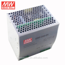 MEAN WELL 240W 24V Industrial DIN Rail Power Supply with UL cUL CB CE certificates DRP-240-24