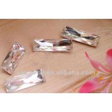 China pedra de vidro, costurar em pedras
