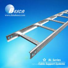 Bandeja de escalera de cable galvanizado en caliente (certificación UL CE y SGS)