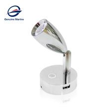 Genuine marine 12V 24V LED Interior Boat Marine Yacht Spot Reading Light With USB Charger