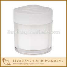 Round jar and lids ,Cosmetic jar with three size and New acrylic cosmetic jar