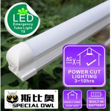 Lâmpada LED Tube de emergência T8: 18W / 1.2m, 13W / 0.9m, 9W / 0.6m recarregável com bateria de reserva