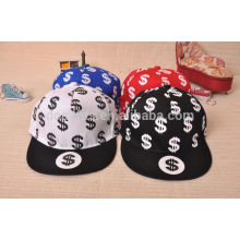 New fashion hot dollar printing hip hop snapback hats