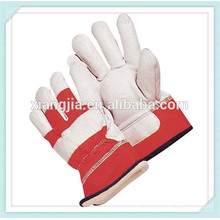 High quaility winter glove red and white leather safety gloves made in China
