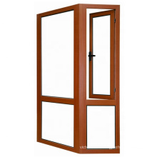 Durable security double glass shop windows with aluminum frame