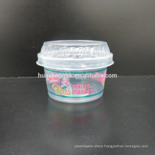 High Quality Food Grade Clear Plastic Disposable 4oz/140ml smoothie cups with lids for wholesale