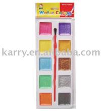 10 couleurs, gâteaux de couleur de forme carrée, emballage simple