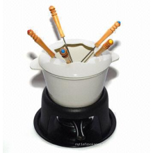 6'' Fondue Set with cherry cream inside