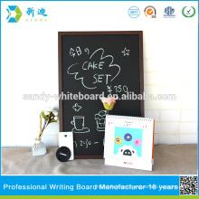 brown style frame chalkboard cafe cahlkboard