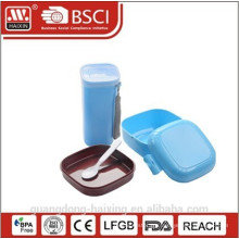 2015 Wholesale Plastic Lunch Box with water bottle